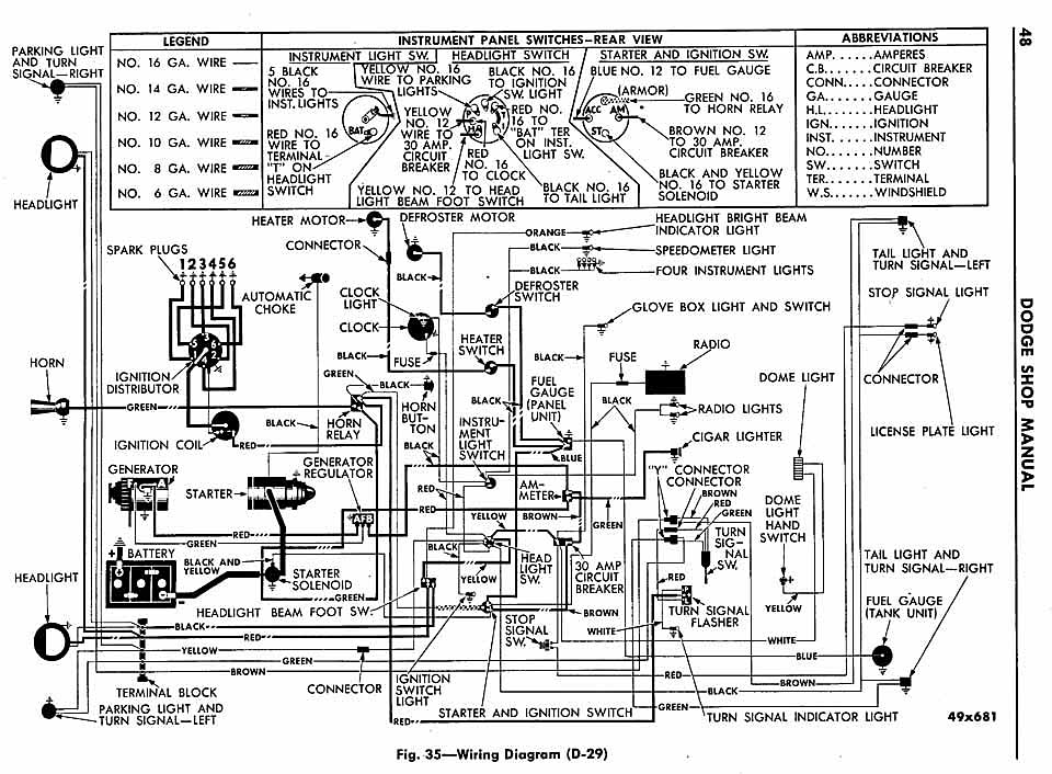 1950 dodge wayfarer wiring diagram electrical diagram schematics rh zavoral genealogy com