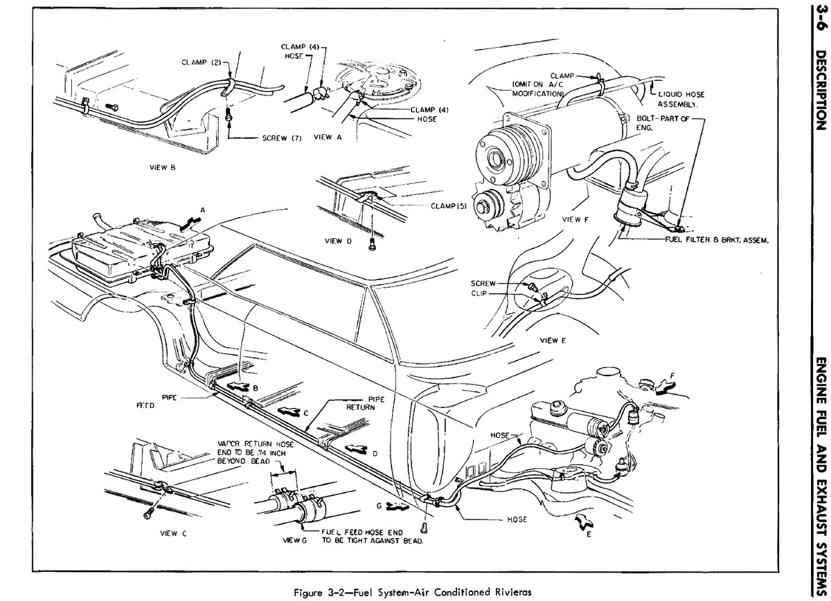 1965 riviera flexible fuel line in engine bay buick riviera rh forums aaca  org 2002 buick century fuel system diagram Ford Fuel System Diagrams