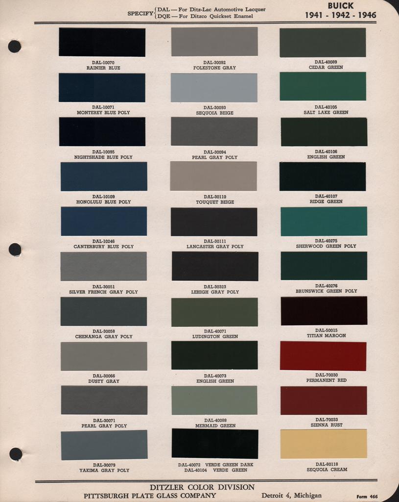 Used Cars Atlanta Ga >> 1941 Buick color example request - Buick - Pre War ...