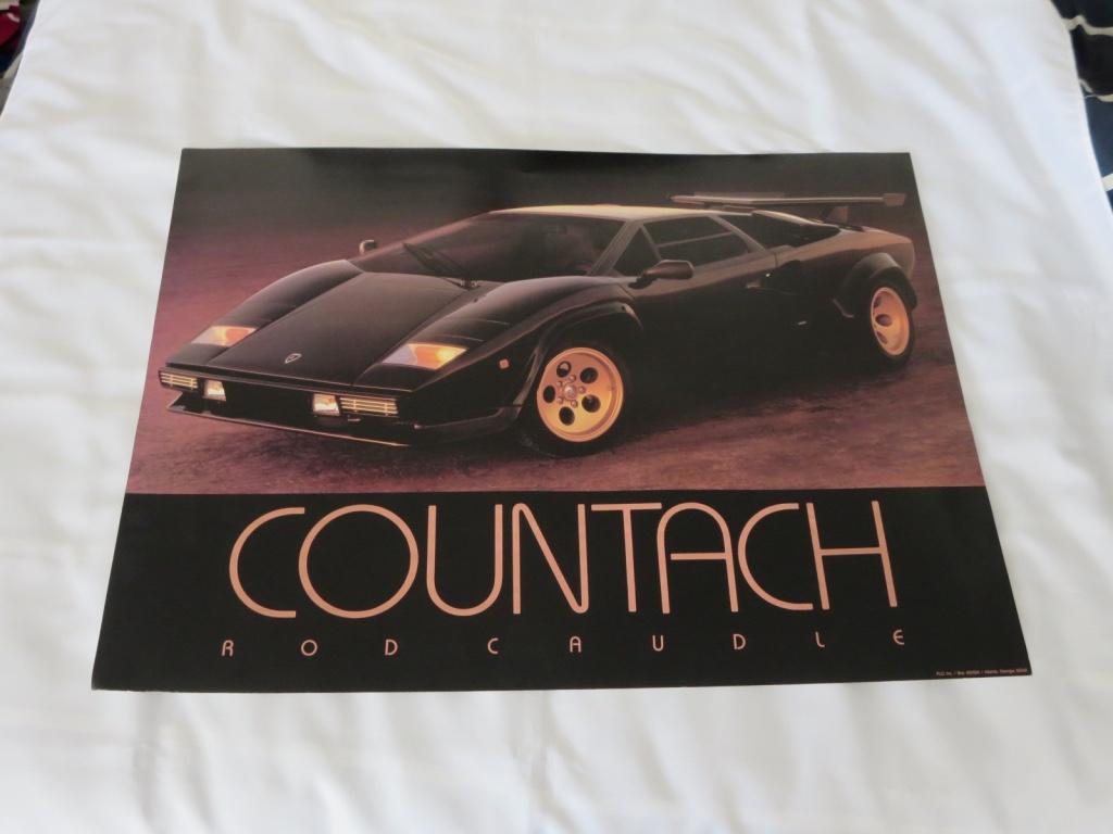 Vintage 1980s Lamborghini Countach Poster , Memorabilia