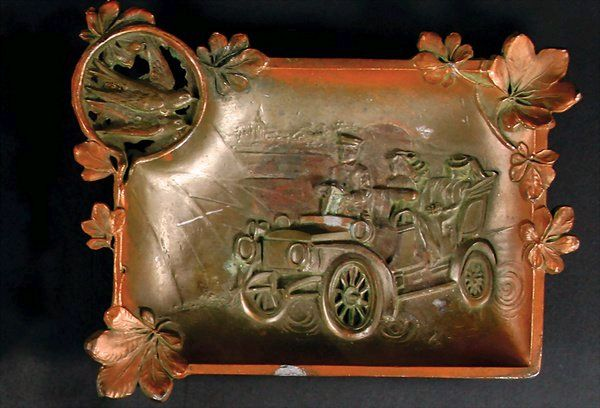 Ash tray with very early motoring scene.jpg