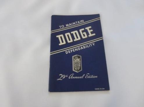 Vintage Chrysler / Dodge / Plymouth / Desoto Sales Brochures