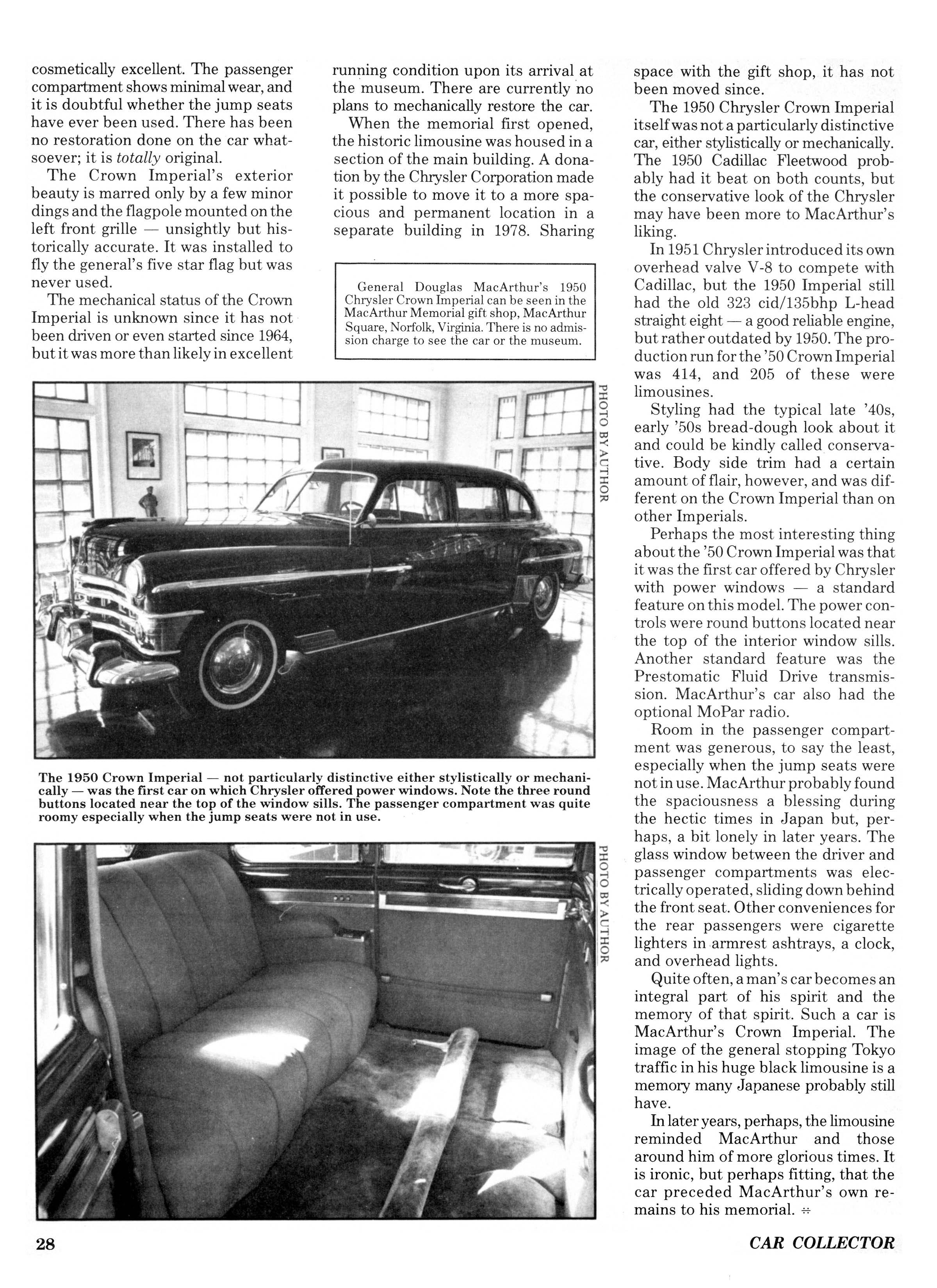 52 Imperial Chrysler Products General Antique Automobile Club 1949 Crown Page02 Big