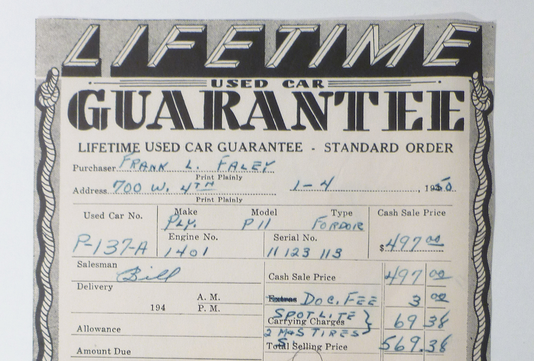 Used Car Lifetime Guarantee What Year Is Car What Is It