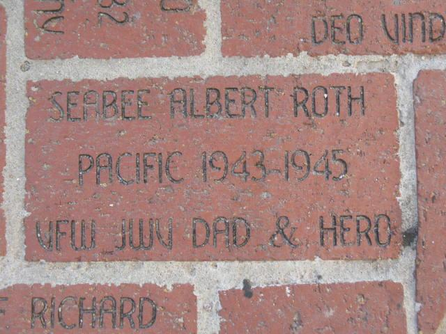 WW II Museum - AL ROTH BRICK Commemorative 005.jpg