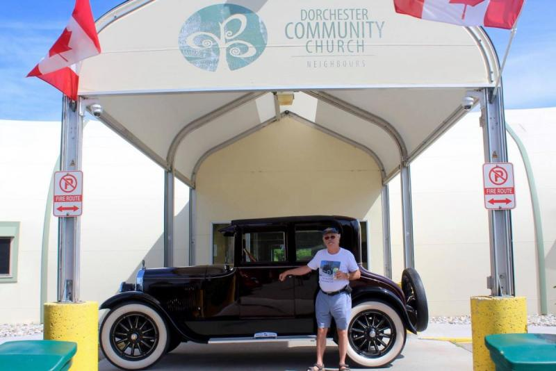 The 1925 Buick at church.jpg