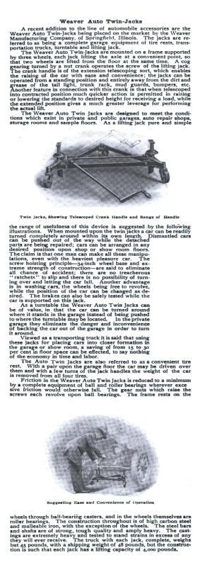 Weaver AD Commercial_America[- 1912 Book pg 100 Weaver Auto Twin Jack.jpg