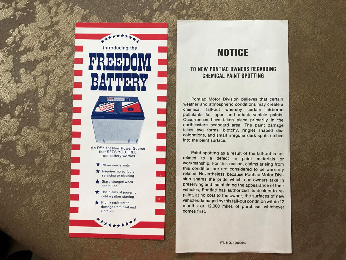 freedom chemical spotting pamphlet bundle parts for sale
