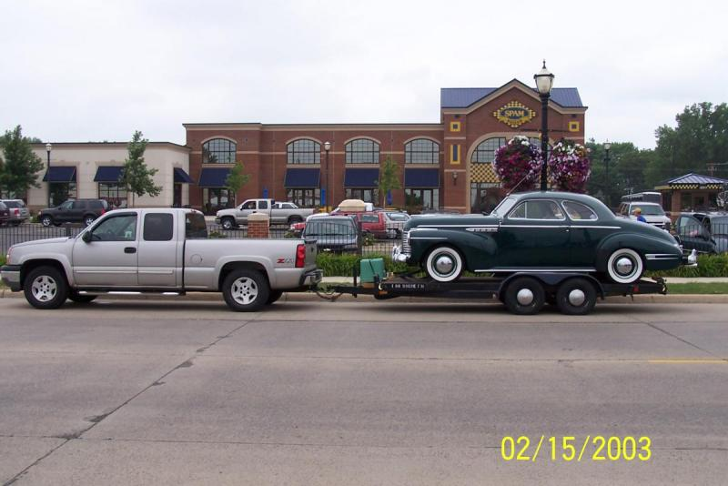 Everett's Buick on Trailer @ Spam Museum.JPG