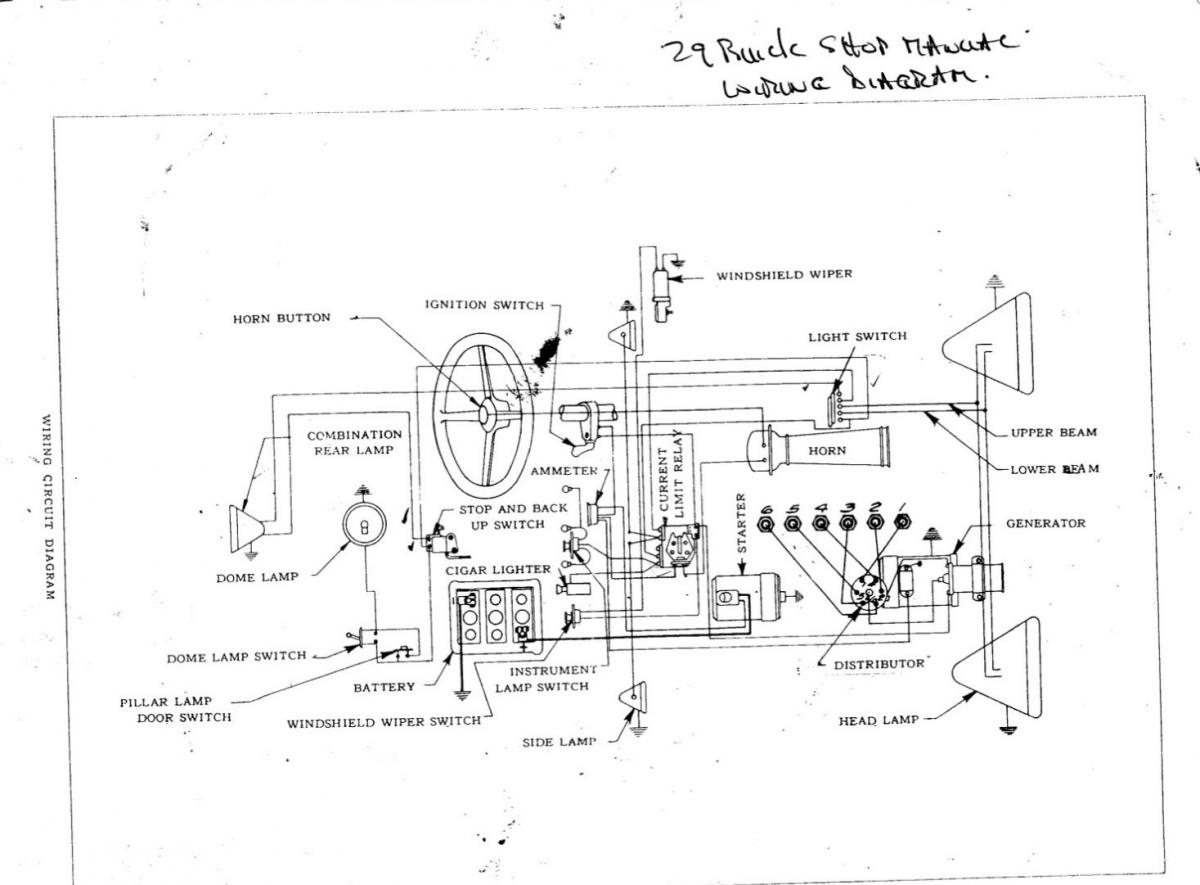 1927 buick wiring diagram - automobiles and parts - buy/sell - antique  automobile club of america - discussion forums  aaca forums - antique automobile club of america