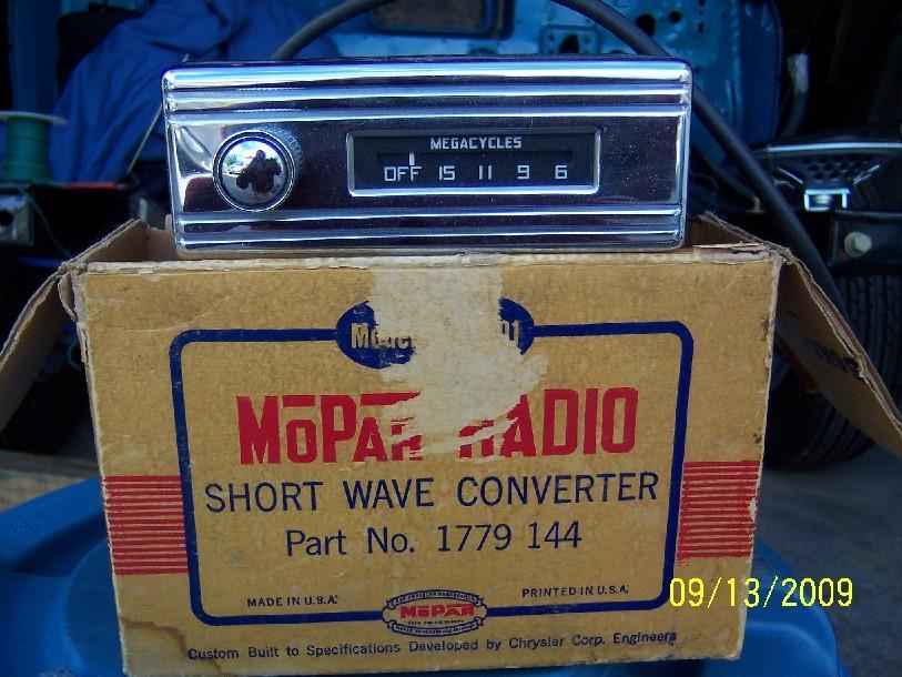 Mopar X-101 short wave radio converter WTB - Chrysler