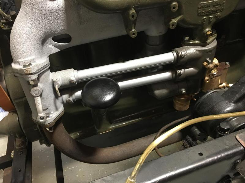 Carb and heat control valve installed.jpg