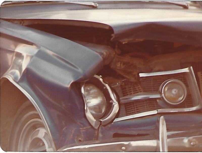 1964 Plymouth Barracuda front wrecked closeup.jpg