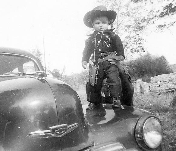 53 Oct on hood of 48 Chevy cropped.jpg