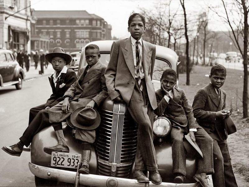 April 1941_ Negro boys on Easter morning, Southside Chicago.jpg