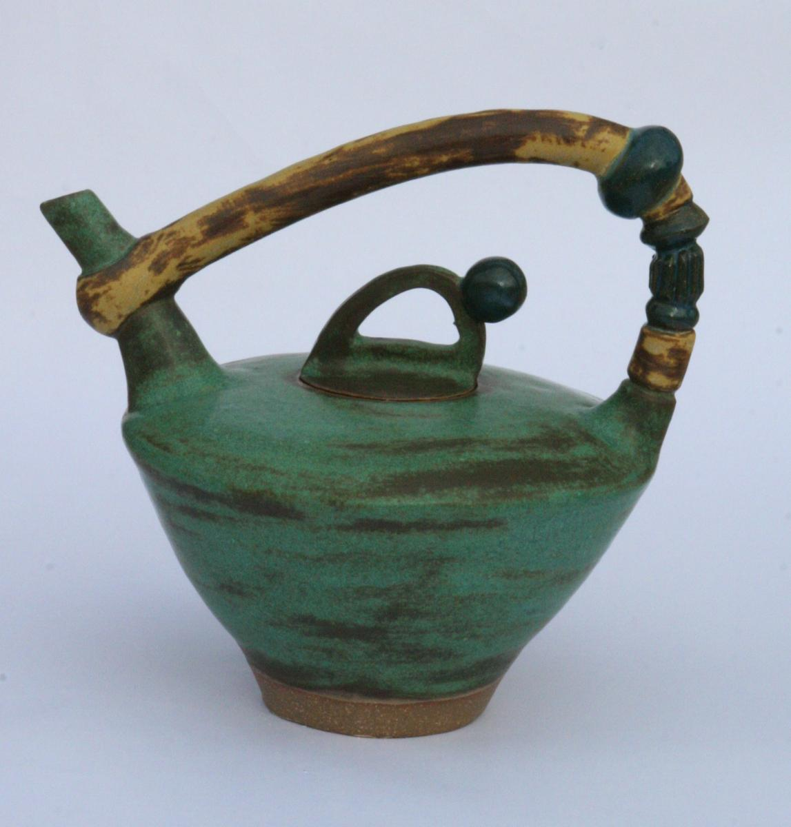 Weathered Bronze Teapot