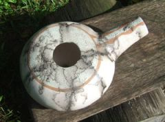 raku fired clay pot drum
