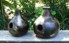 smoke fired clay pot drums