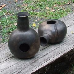 More smoke fired clay pot drums