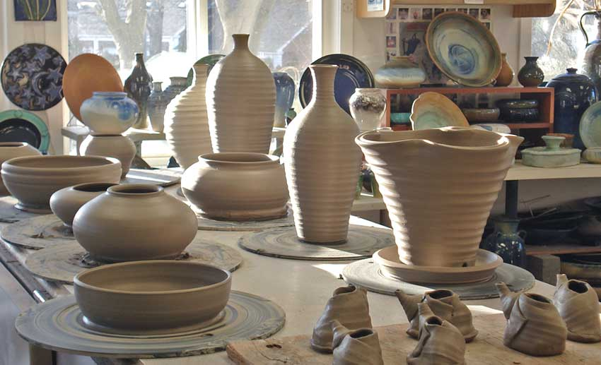 Lakeside Pottery Studio in Action