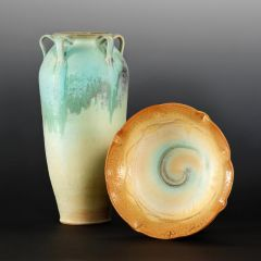Morty's work  at Lakeside Pottery, ceramic School and Studio in Stamford, CT