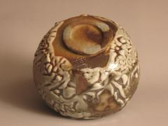 "American Shino Glazed Chawan  - John Baymore  ""Tea Bowl National 2010"""
