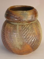 "Yakishime Rope Impressed Vase Form  - John Baymore  ""Seacoast Master Artists"" Invitational 2010"