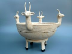Cream Deer Bowl
