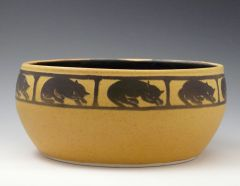 sleeping cat bowl