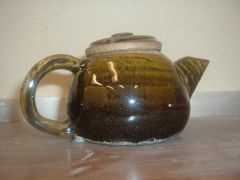teapot with Howell's Amber Celadon