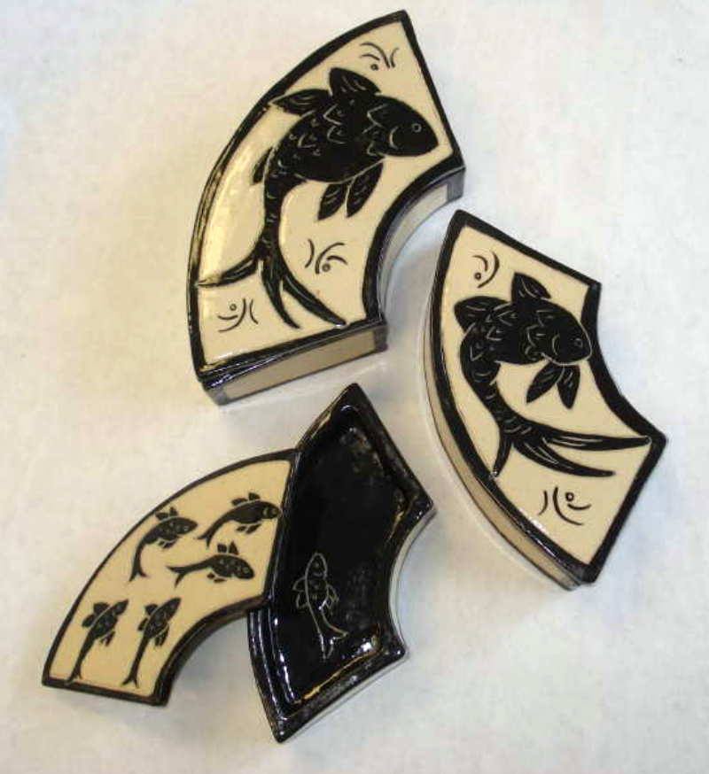 Sgraffito Boxes - Stoneware by Patty Storms