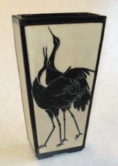 Sgraffito Vase - Stoneware by Patty Storms