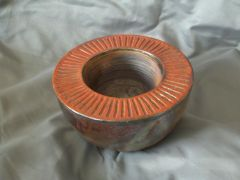 Double Wall Bowl Thrown Upside Down then Raku