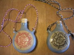 Tudor Rose flasks