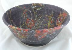 Gray Flower Bowl