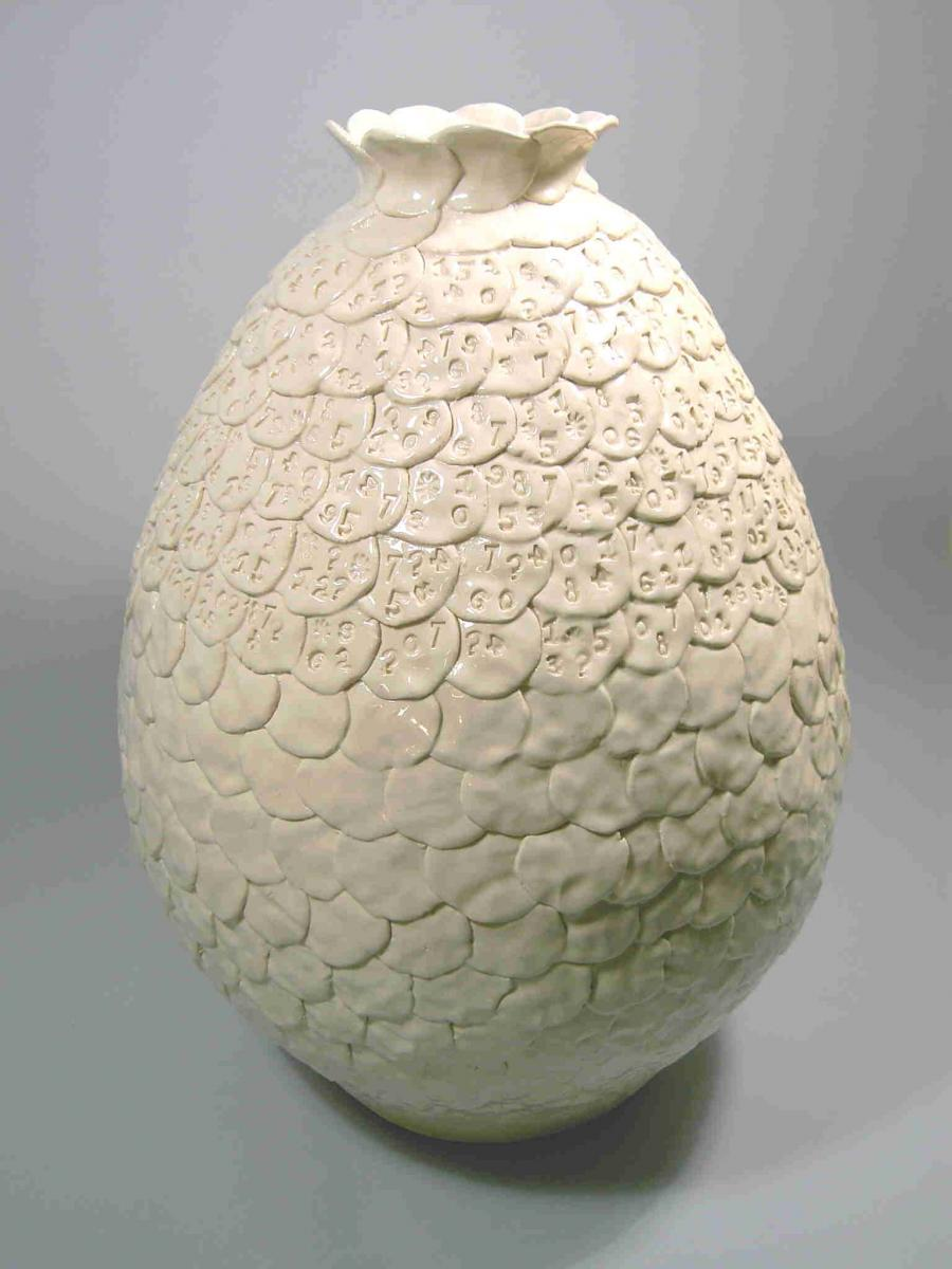 """By the Numbers"" Hand built petal pot by George Palovich"