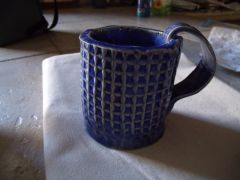 Blue patterned mug