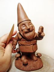 Gnome with Caterpillar - in progress