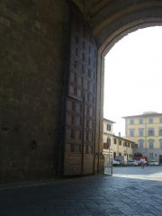 Day 1 - Florence, Italy - Walk  - wooden gates.