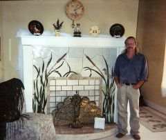 Cattail Fireplace display