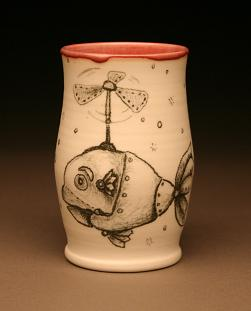 Steampunk Fish Cup