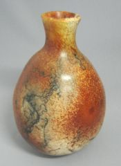 Naked raku Ferric chloride and horse hair