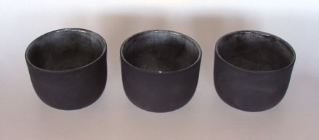 Black clay - straight sided bowls