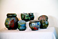 Raku Canisters and boxes