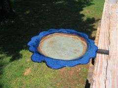 Custom-made bird bath