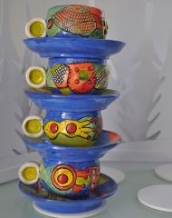 Stacked Expresso cups By Cindy ginter