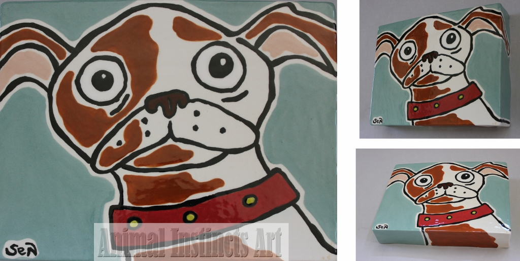 Porcelain Chihuahua Wall Tile Item 1158