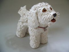 "Bichon Frise Dog Sculpture ""Cassie"""