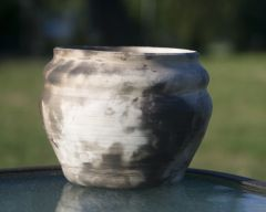 wheel thrown cup - downdraft kiln fired.