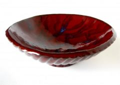 Red Modern Rice Bowl, 6.75 x 2.2 inches